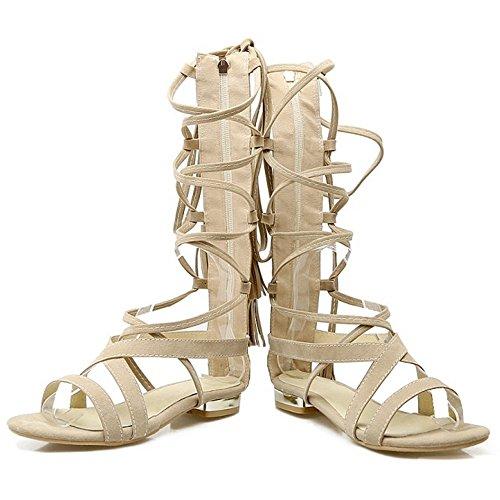 Scarpe White Gladiatore Sandali Donna TAOFFEN q4ZBtt