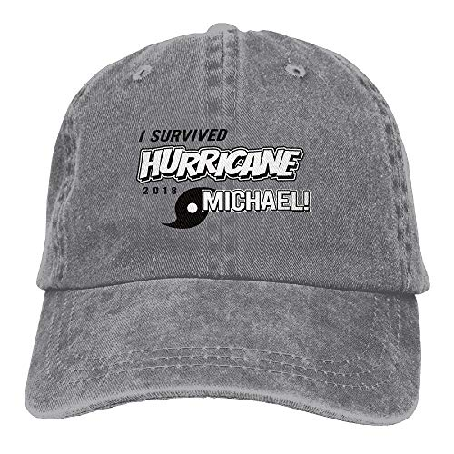 Bhakzqsuyo I Survived Hurricane Michael Classics Adjustable Baseball Cap Dad Hat Denim Hat
