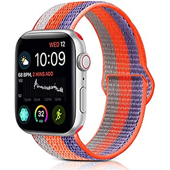 9629911c2 Runostrich Compatible iWatch Sport Loop Nylon Band 44mm 42mm 40mm 38mm Soft  Waterproof Strap Woven Stripe Adjustable Compatible Apple Watch Series 4 3  2 1 ...