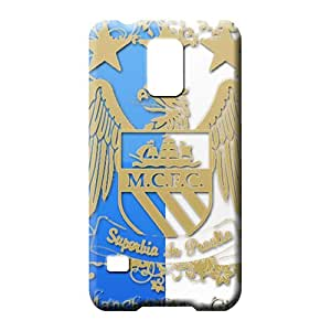 samsung galaxy s5 phone carrying skins Covers covers For phone Fashion Design the logo of manchester city