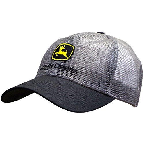 John Deere Classic Logo Mesh Cap-Charcoal ()