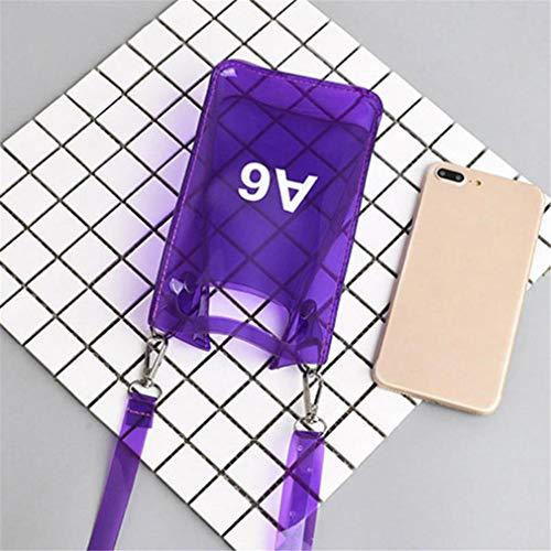De Bolsos Purple Transparente Teléfono Clear Hombro BPqUwOZ