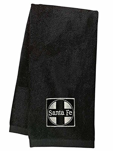 Daylight Sales at&SF Santa Fe Black Cross Logo Embroidered Hand Towel Black - Fe Santa Towel
