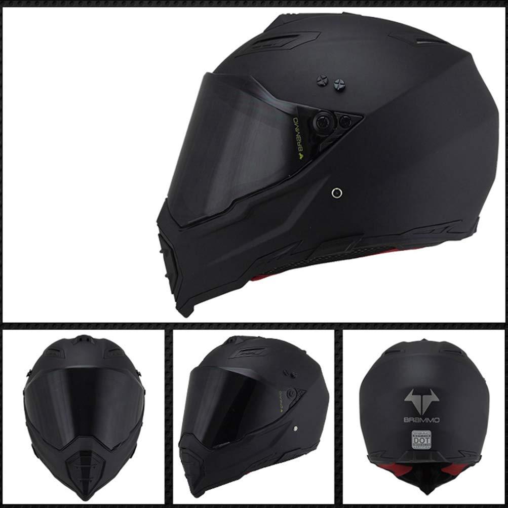 Unisex Erwachsener Off Road Vollgesichts-Motorradhelm Antifog Suanproof Motorrad-Helm mit Visier Atmungsaktive Moto-Motocross-Schutzkappen