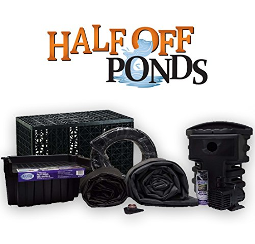 Half Off Ponds PSANB1-10' x 20' Pondless Small Anjon Waterfall Kit with 3,000 GPH Pump, 16