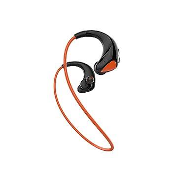 WERNG Auriculares Bluetooth Portátiles Que Funcionan con Auriculares Bluetooth Inalámbricos Binaurales A Prueba De Agua Y A Prueba De Sudor, Orange: ...