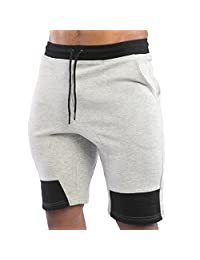 EU Men's Gym Workout Shorts Running Short Pants Bodybuilding Jogger with Pockets