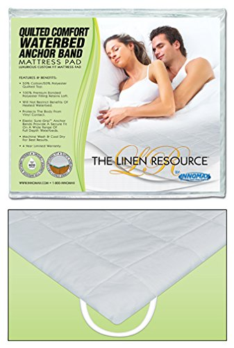 Anchor Band Waterbed Mattress Protector Pad Waterbed Queen (60x84 inch)