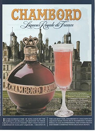 "Magazine Print Ad: 1996 Chambord Liqueur Royale de France,""Chambord and Champagne. A Marriage Made in Heaven"" (NOT AN OFFER FOR ALCOHOL)"
