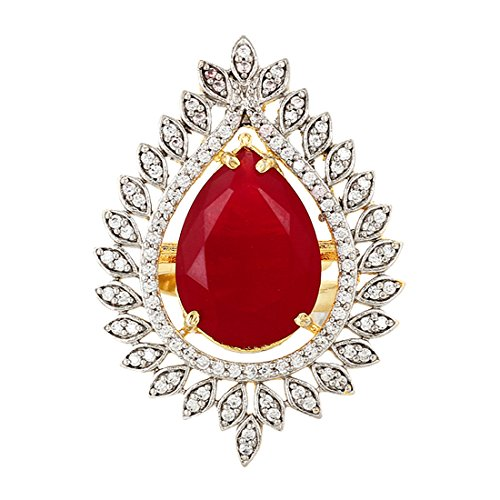 red cocktail ring - 8