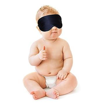 76ef9b6f247 Amazon.com   Infant Sleep Mask Super Soft Natural Silk Eye Mask Best Sleeping  Eye Mask Blindfold for Baby   Baby
