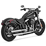 Vance & Hines Twin Slash 3''; Round Slip Ons Chrome