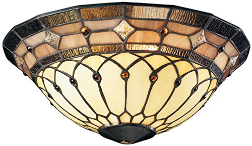 (Kichler 340001, Stained Art Glass Bowl)
