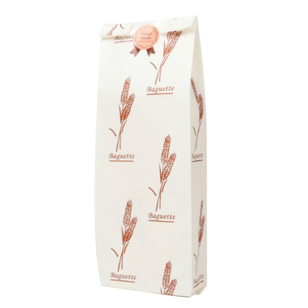 Biscotti Pane 50 Sacchetti con Finestra in Carta Kraft per Alimenti Caramelle cioccolatini 31 * 10 * 4CM Fablcrew Bianco Baguette