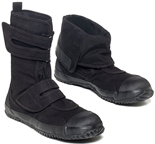 fugu SA-ME Japanese Mid-Calf Eco-Friendly Vegan Boots, USM11.5-12.5/JP 29 Black