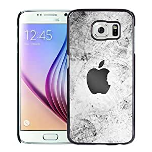 NEW Unique Custom Designed Samsung Galaxy S6 Phone Case With Thank You Steve Apple Logo_Black Phone Case