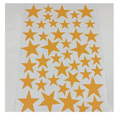 New 45/24Pcs Cartoon Starry Wall Stickers Little Stars Wall Decals Baby Nursery DIY Vinyl Orange 24pcs 3-10cm -