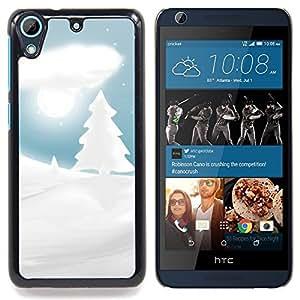 Winter Snowy Christmas Forrest Caja protectora de pl??stico duro Dise?¡Àado King Case For HTC Desire 626 & 626s