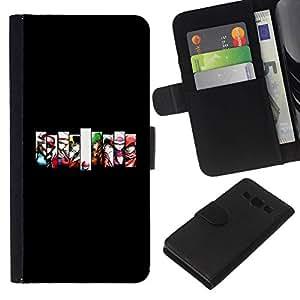 // PHONE CASE GIFT // Moda Estuche Funda de Cuero Billetera Tarjeta de crédito dinero bolsa Cubierta de proteccion Caso Samsung Galaxy A3 / Gaming Team /