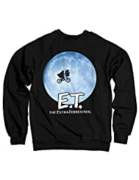 E.T. Bike Officially Licensed in The Moon Sweatshirt (Black)