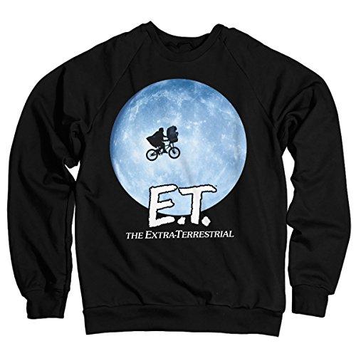 E.T. Bike Officially Licensed in The Moon Sweatshirt (Black) Medium -