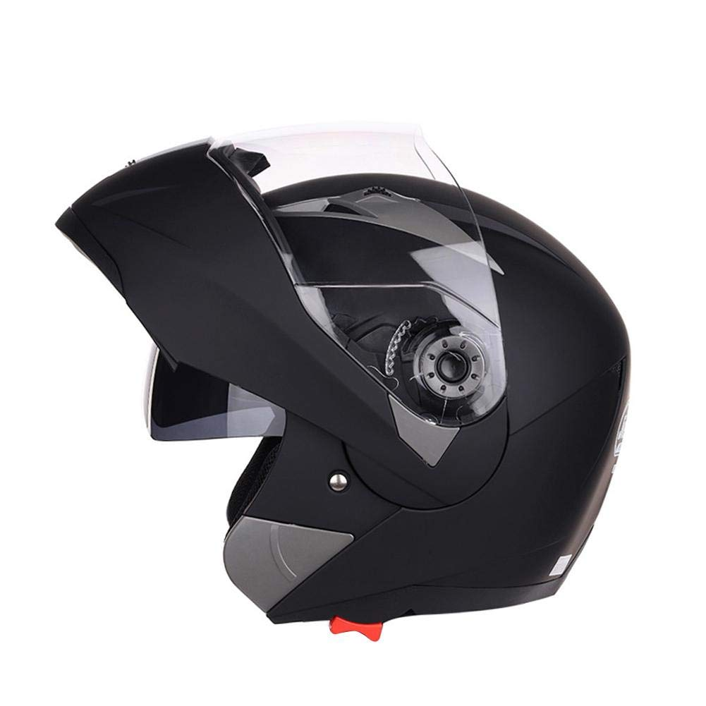 L-XXL luckything Klapphelm Integralhelm Mit Doppelvisier Motorradhelm,Integralhelm Motorradhelm Damen Und Herren