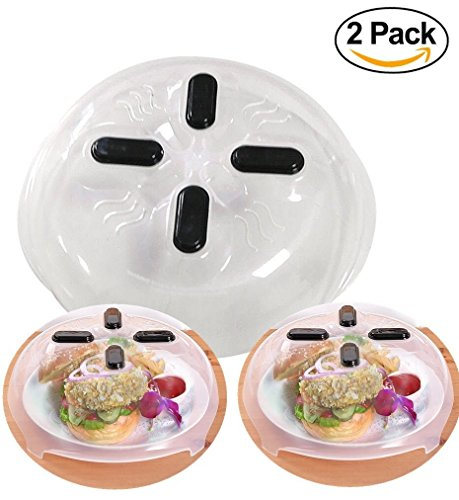 Hover Cover Microwave Magnetic Splatter Lid with Steam Vents, Dishwasher Safe & BPA Free, 11.5 inch, 2 Pack - Washer Vent
