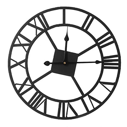 LIZHIHUI Wall Clocks North Europe Brief Roman Numerals Retro Iron Watches Antique Klok Ation Mute Easy to Read Large Numbers Living Room Bedroom Office Hotel Bar (Best Place To Sell Second Hand Furniture)