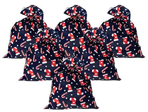 Pack of 6 Jumbo Gift Bags - Giant Plastic Gift Sacks, Candy