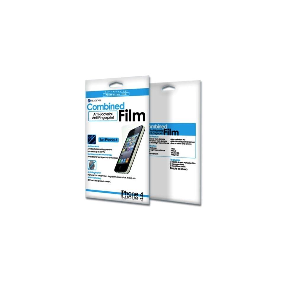 Placewiz Anti Bacteria and Anti Fingerprint Screen Protector Film for iPhone 4