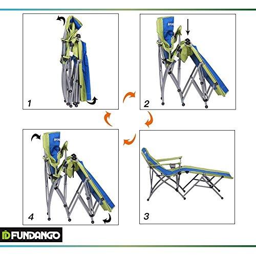 Fundango Heavy Duty Outdoor Portable Folding Chaise Lounge