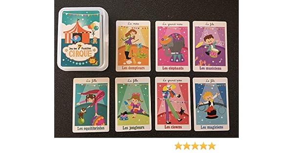 Jeu des 7 familles sur le thème du Cirque. Un jeu de cartes qui fait rire, sourire et travailler sa mémoire. Dessins humoristiques et colorés.: Amazon.es: Oficina y papelería