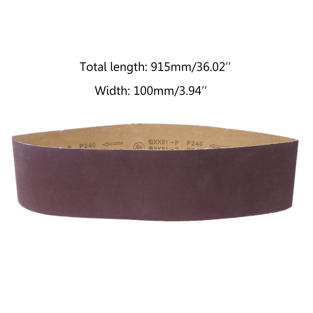 grain 80//120//150//180//240//320//400//800 10,2 x 91,4 cm 120 100x915mm Yintiod Ruban abrasif en oxyde daluminium