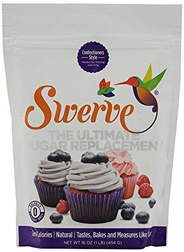 Make No Flour, No Sugar Crepes with Swerve Sweetener, Confectioners, 16 Ounce (Pack of 2)