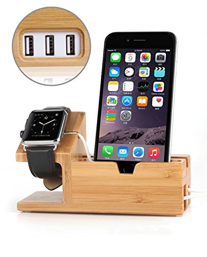 Bamboo Charging Stand Apple iPhone