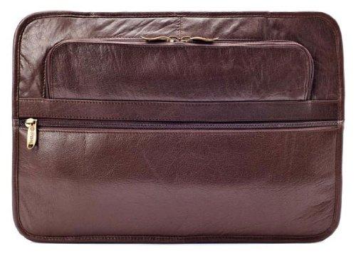 Leather Underarm Portfolio Color: Brown, Material: Top Grain, Bags Central