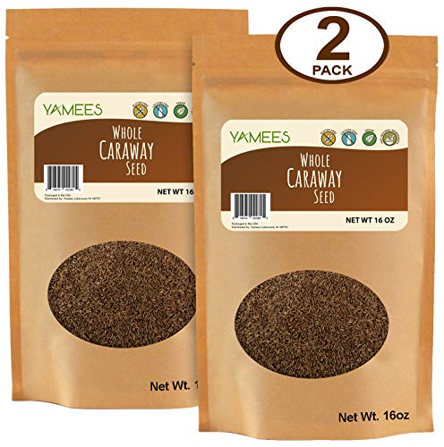 Yamees Caraway Seeds - Caraway Seeds for Cooking - Whole Caraway Seeds - Bulk Spices - 2 Pack of 16 Ounce Each