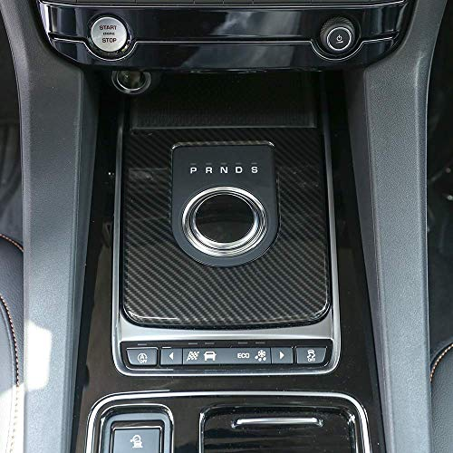 - TongSheng Carbon Fiber Interior Gear Shift Plate Cover Trim 1pc for Jaguar XE F-pace XF/XFL 2016-2018