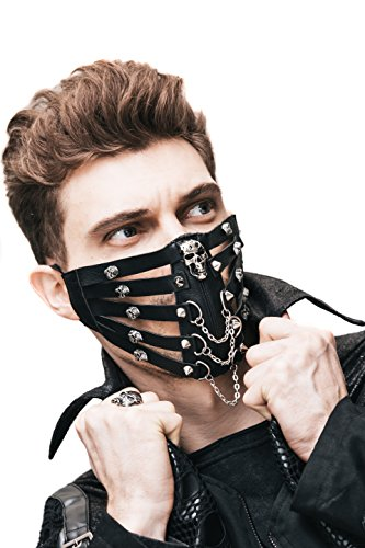 Sexy Biker Costume (Steampunk Motorcycle Biker Ice Hockey Cycling Winter Face Mask Masquerade)