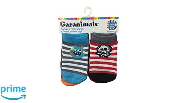 Amazon.com: Garanimals Boys Stripe 6 Pack Crew Socks 0-6 Months: Clothing