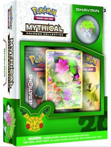 Booster Generations (Pokemon SHAYMIN Mythical Collection Generations Booster Packs Box Set - 2 booster packs + promos)