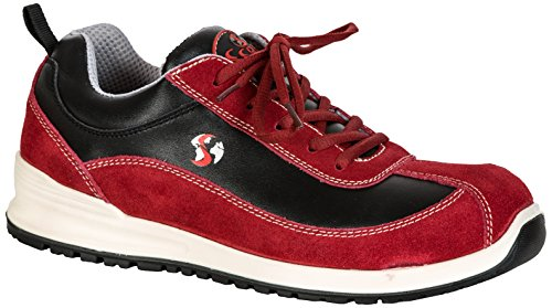 Seba 573CE Langsame Schuh S1P SRC, rot, Größe 39