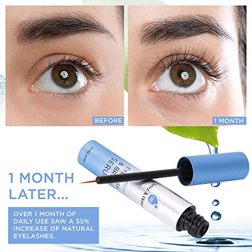 Natural Eyelash Growth Serum and Brow Enhancer to Grow Thicker, Longer Lashes for Long, Luscious Lashes and Eyebrows[3ml] by Terez & Honor (Image #3)