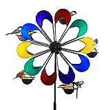 Exhart Ferris Feeder - Coney Island Multi-Color, Bird Feeder, Wheel Statue, Backyard/Outdoor / Garden