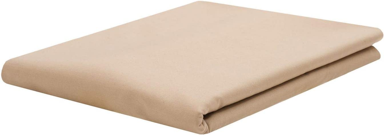 ARlinen Flat Sheets-Twin Size,Ivory Solid Ultra Soft /& Smooth Cotton top Sheets,Hospital Bed Sheets