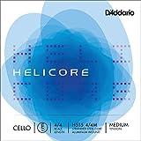 D'Addario Helicore Cello Single E String, 4/4 Scale, Medium Tension