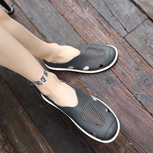 tendenza sandali Uomini Spiaggia Buco scarpa Uomini Antiscivolo sandali ,grigio,US=9,UK=8.5,EU=42 2/3,CN=44