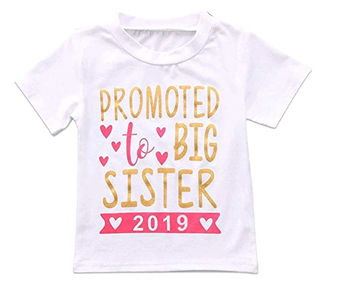 aa7ad04a3 2018 Baby Girl Clothes Outfit Big Sister Letter Print T-Shirt Top Blouse  Shirts (