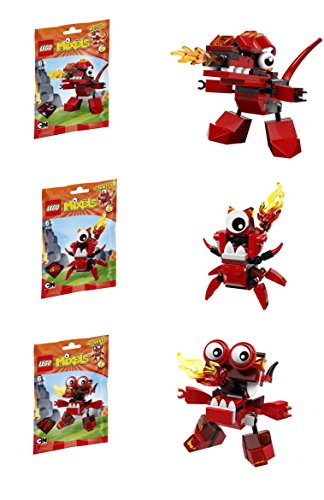 LEGO, Mixels, Series 4 Bundle Set of Infernites, Meltus (41530), Flamzer (41531) and Burnard (41532) ()