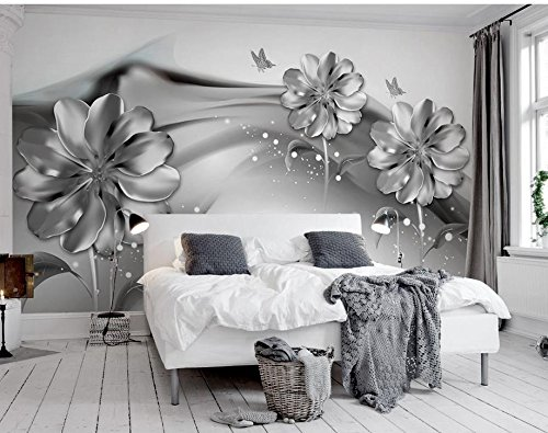 300cmx210cm 3d wall murals wallpaper black and white flower custom300cmx210cm 3d wall murals wallpaper black and white flower custom wallpaper mural 3d wallpaper 3d wall papers for tv backdrop,d amazon co uk diy \u0026 tools